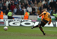 Photo: Ed Godden.<br />Wolverhampton Wanderers v Cardiff City. Coca Cola Championship. 11/03/2006. <br />Kenny Miller scores the penalty for Wolves.