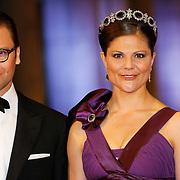 NLD/Amsterdam/20130429- Afscheidsdiner Konining Beatrix Rijksmuseum, princess Victoria and prince Daniel of Sweden