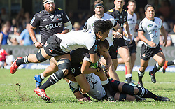 Durban. 100318.  Curwin Bosch of the Cell C Sharks during the Super Rugby match between Cell C Sharks and Sunwolves at Jonsson Kings Park Stadium on March 10, 2018 in Durban, South Africa. Picture Leon Lestrade/African News Agency/ ANA