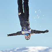 Ellis McMillan (Park City, UT) performs aerial acrobatics during the 2009 Sprint US Freestyle Championships held at the Utah Olympic Park in Park City on March 8, 2009.