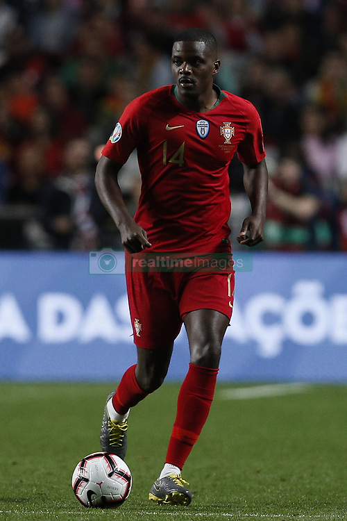 March 22, 2019 - Lisbon, Portugal - William Carvalho of Portugal  in action  during the Euro 2020 qualifying match football match between Portugal vs Ukraine, in Lisbon, on March 22, 2019. (Credit Image: © Carlos Palma/NurPhoto via ZUMA Press)