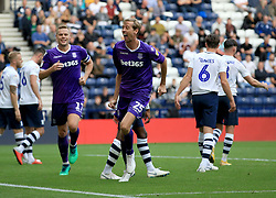 Stoke City's Peter Crouch celebrates after he scores his sides second goal of the game