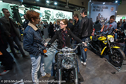 Harley-Davidson Motorcycles display at the Intermot Motorcycle Trade Fair. Cologne, Germany. Sunday October 9, 2016. Photography ©2016 Michael Lichter.