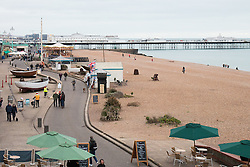 © Licensed to London News Pictures. 20/03/2016. Brighton, UK. Few people can be seen on Brighton beach on the first day of Spring. Photo credit: Hugo Michiels/LNP