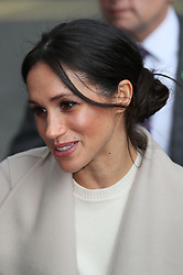 Meghan Markle during a walkabout in Belfast after a visit to the Crown Bar in the city centre.
