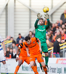 Dundee United's keeper Cammy Bell. Dundee United 1 v 1 Morton, Scottish Championship game played 25/2/2017 at Tannadice Park.