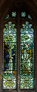 Stained glass window Noli me Tangere  Seend church, Wiltshire, England, UK 1908 James Powell and Sons