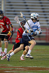 23 April 2010: North Carolina Tar Heels  midfielder Ian Braddish (35) during a 13-5 loss to the Maryland Terrapins in the first round of the ACC Tournament at Byrd Stadium in College Park, MD.