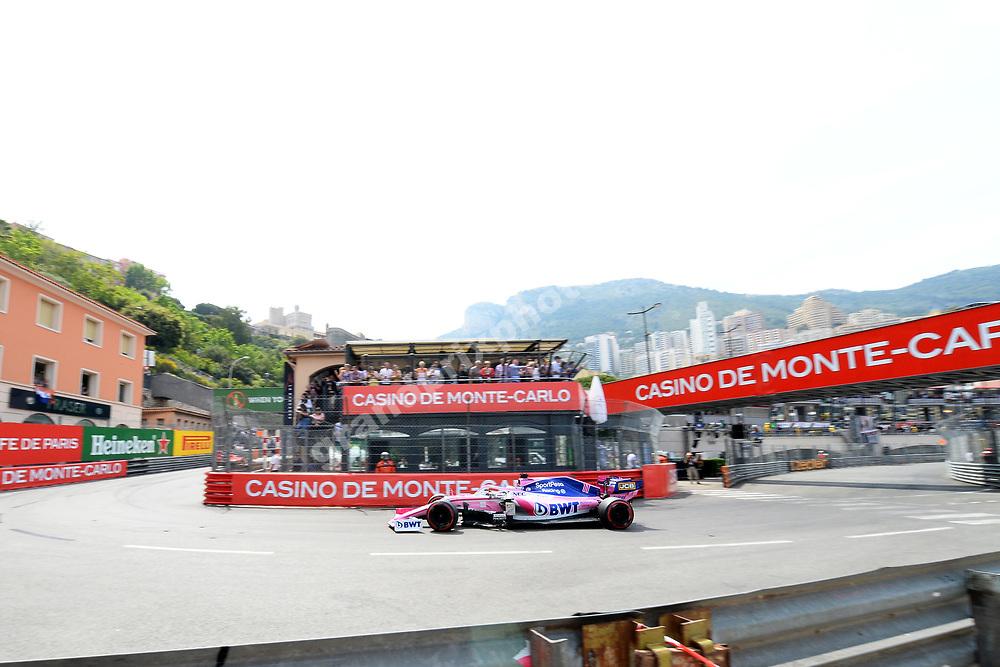 Sergio Perez (Racing Point-Mercedes) during qualifying for the 2019 Monaco Grand Prix. Photo: Grand Prix Photo