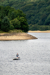 The effects of the heatwave of current heatwave can be clearly seen in the depleted water levels at Ladybower Reservoir in the Peak national park.<br /> <br /> 08 August 2018<br /> Copyright Paul David Drabble<br /> www.pauldaviddrabble.co.uk