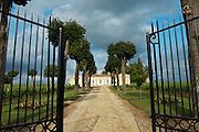 gate entrance chateau trottevieille saint emilion bordeaux france