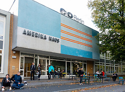 Exterior of CO Berlin photography arts centre at former Amerika Haus in Charlottenburg Berlin, Germany,