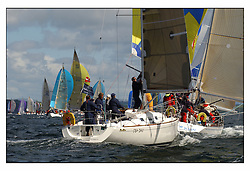 The third days racing at the Bell Lawrie Yachting Series in Tarbert Loch Fyne ..Perfect conditions finally arrived for competitors on the three race courses...Class 4's RoBo GBR8683TJock Blair in his Ro340..