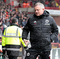 Sheffield United manager Chris Wilder makes his way to the dugout before kick off<br /> <br /> Photographer David Shipman/CameraSport<br /> <br /> The EFL Sky Bet Championship - Sheffield United v Nottingham Forest - Saturday 17th March 2018 - Bramall Lane - Sheffield<br /> <br /> World Copyright © 2018 CameraSport. All rights reserved. 43 Linden Ave. Countesthorpe. Leicester. England. LE8 5PG - Tel: +44 (0) 116 277 4147 - admin@camerasport.com - www.camerasport.com