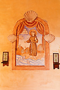 Wall painting, Mission San Antonio de Padua (3rd Mission-1771), Jolon, California