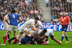February 2, 2020, Saint Denis, Seine Saint Denis, France: The Flanker of England Team COURTNEY LAWES in action during the Guinness Six Nations Rugby tournament between France and  England at the Stade de France - St Denis - France.. France won 24-17 (Credit Image: © Pierre Stevenin/ZUMA Wire)