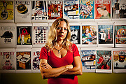 Christine Pelisek, in the LA Weekly offices.