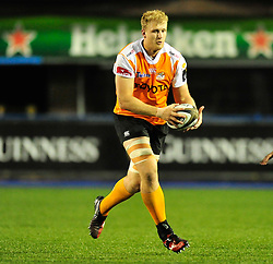 Cheetahs' Rynier Bernardo<br /> <br /> Photographer Mike Jones/Replay Images<br /> <br /> Guinness PRO14 Round 14 - Cardiff Blues v Cheetahs - Saturday 10th February 2018 - Cardiff Arms Park - Cardiff<br /> <br /> World Copyright © Replay Images . All rights reserved. info@replayimages.co.uk - http://replayimages.co.uk