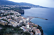 Landscape of coast and town of Sorrento, Bay of Naples, Italy 1998