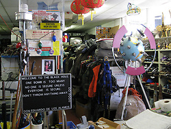 """One Bomb is Too Many"" at The Black Hole Surplus Store. Los Alamos New Mexico. 22 March 2008"