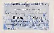 All Ireland Senior Hurling Championship -Semi-Final, .Tipperary v Kilkenny, .07.10.1962, 10.07.1962, 7th October 1962, .Tipperary 3-10, Limerick 2-11,