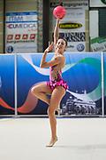 Nicole Piredda from Nervianese team during the Italian Rhythmic Gymnastics Championship in Padova, 25 November 2017.