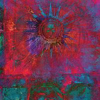 Ancient Alchemical sun gone pure color blast.