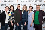 Presentatie De 12 van Oldenheim, een serie van RTL / Videoland.<br /> <br /> Op de foto:  Cast met Cas Jansen , Saskia Temmink , Nasrdin Dchar , Noortje Herlaar ,  Gaite Jansen en Reinout Bussemaker