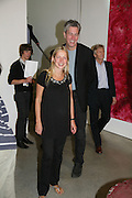 IWONA BLAZWICK AND HUSBAND, Beyond Belief-Damien Hirst. White Cube Hoxton and Mason's Yard.Party  afterwards at the Dorchester. Park Lane. 2 June 2007.  -DO NOT ARCHIVE-© Copyright Photograph by Dafydd Jones. 248 Clapham Rd. London SW9 0PZ. Tel 0207 820 0771. www.dafjones.com.