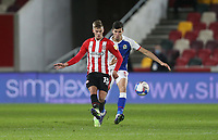 Brentford's Marcus Forss and Blackburn Rovers' Daniel Ayala<br /> <br /> Photographer Rob Newell/CameraSport<br /> <br /> The EFL Sky Bet Championship - Brentford v Blackburn Rovers - Saturday 5th December 2020 - Brentford Community Stadium - Brentford<br /> <br /> World Copyright © 2020 CameraSport. All rights reserved. 43 Linden Ave. Countesthorpe. Leicester. England. LE8 5PG - Tel: +44 (0) 116 277 4147 - admin@camerasport.com - www.camerasport.com