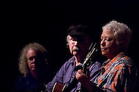 Janis Ian and Tom Paxton on stage accompanied Robin Bullock.