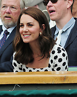 Tennis - 2017 Wimbledon Championships - Week One, Monday [Day One]<br /> <br /> Men's Singles, First Round<br /> <br /> Andy Murray (GBR) vs. Alexander Bublik (Kazakhstan)<br /> <br /> HRH The Duchess of Cambridge (Kate) watches from the Royal box on Centre Court.<br /> <br /> COLORSPORT/ANDREW COWIE