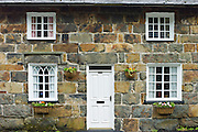 Typical Welsh stone cottage with Welsh slate roof at Beddgelert, Gwynedd, Wales