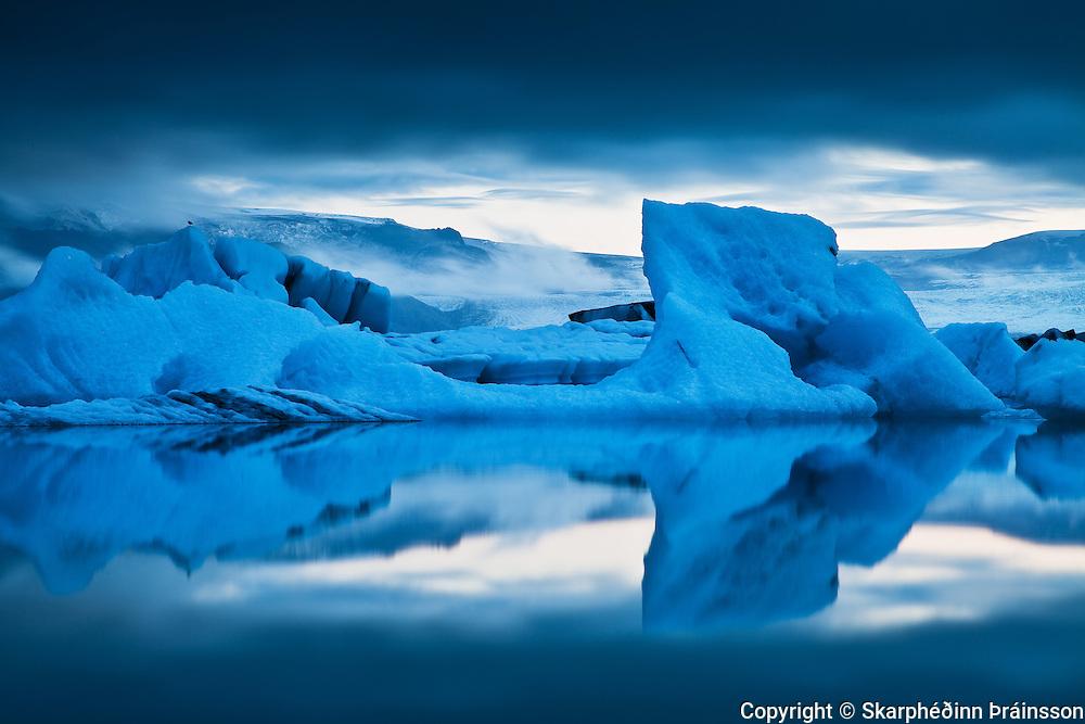 Ice sculpture in the Glacier Lagoon / Jökulsárlón, south Iceland