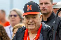 3 September 2021: Normal Community Ironmen host Peoria Manual Rams with opening ceremony for naming the field for Dick Tharpe at Normal Community High School in Normal Illinois<br /> <br /> The naming of the field before the game makes this the very first Ironmen football game to be played on Dick Tharp Field.