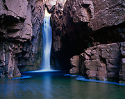 Cibecue Falls on Cibecue Creek, Fort Apache Indian Reservation, White Moutain Apache Tribe, Arizona.