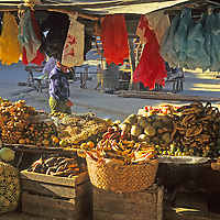 Central America, Latin America, Guatemala, Chichicastenango. Market stall.