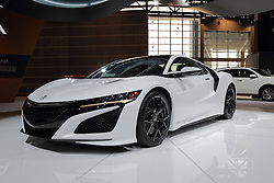 11 February 2016: Acura NSX.<br /> <br /> First staged in 1901, the Chicago Auto Show is the largest auto show in North America and has been held more times than any other auto exposition on the continent.  It has been  presented by the Chicago Automobile Trade Association (CATA) since 1935.  It is held at McCormick Place, Chicago Illinois<br /> #CAS16