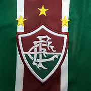 The shirt emblem of Fluminense football team in Rio de Janeiro,  Brazil. 6th September 2010. Photo Tim Clayton.