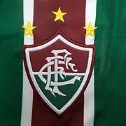 The shirt emblem of Fluminense football team in Rio de Janeiro,  Brazil. 6th September 2010. Photo Tim Clayton.