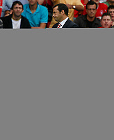 Photo: Steve Bond/Richard Lane Photography.<br />Nottingham Forest v Watford. Coca-Cola Football League Championship. 23/08/2008. Colin Calderwood shows his relief at the final whistle