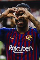 August 15, 2018 - Barcelona, Spain - Malcom Filipe from Brasil during the Joan Gamper trophy game between FC Barcelona and CA Boca Juniors in Camp Nou Stadium at Barcelona, on 15 of August of 2018, Spain. (Credit Image: © Xavier Bonilla/NurPhoto via ZUMA Press)