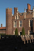 Hampton Court Palace grounds on the 17th September 2019 in London in the United Kingdom. Hampton Court Palace is a royal palace in the borough of Richmond upon Thames.