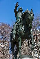 Georges Washington statue  Union Square  Manhattan Landmarks in New York City USA