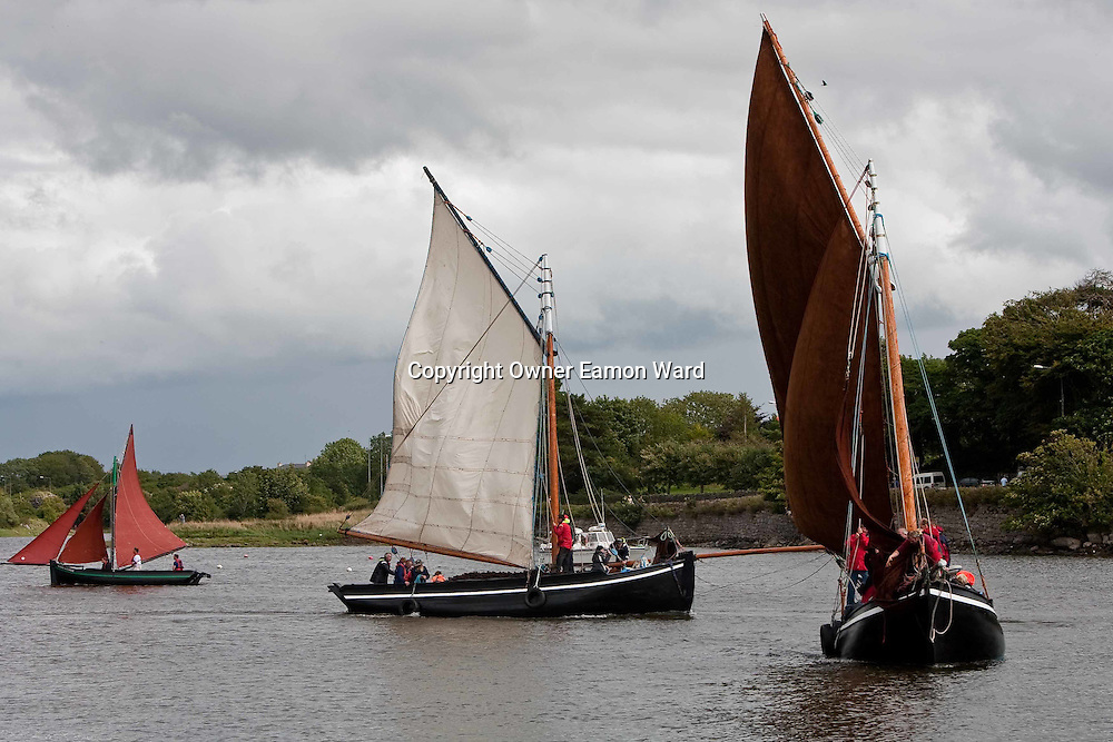 Galway Hookers in Kinvara at the Crinniú na mBad,Kinvara,Co Galway at the weekend. Photograph by Eamon Ward