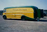 John Coundley Racing Partnership racing car transporter vehicle truck, Lotus 19,  1963