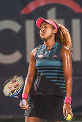 August 2, 2018 - Washington, D.C, U.S - NAOMI OSAKA reacts after hitting a bad shot during her 3rd round match at the Citi Open at the Rock Creek Park Tennis Center in Washington, D.C. (Credit Image: © Kyle Gustafson via ZUMA Wire)