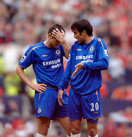 Photo: Glyn Thomas.<br />Chelsea v Liverpool. The FA Cup, Semi-Final. 22/04/2006.<br />Chelsea's Frank Lampard (L) and Paolo Ferreira look dejected.