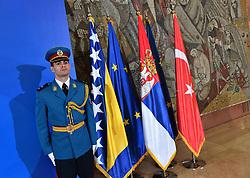 08.10.2019, Belgrad, SRB, Trilaterales Gipfeltreffen der Staats- und Regierungschefs von Serbien, Bosnien und Herzegowina und der Türkei, Pressekonferenz, im Bild Feature // during a press conferenze for the trilateral summit of leaders from Serbia, Bosnia and Herzegovina and Turkey is being held in Belgrad, Serbia on 2019/10/08. EXPA Pictures © 2019, PhotoCredit: EXPA/ Pixsell/ Srdjan Ilic<br /> <br /> *****ATTENTION - for AUT, SLO, SUI, SWE, ITA, FRA only*****