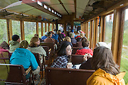 A WPYR car and passengers on the way  to Skagway from Lake Bennett. PLEASE CONTACT US FOR DIGITAL DOWNLOAD AND PRICING.